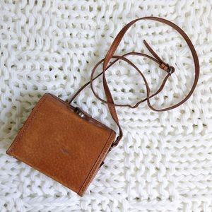 Vintage • Leather mini Box Bag